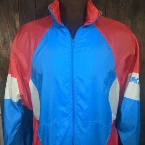 vintage 1980's Nike Red/White/Blue Track Jacket